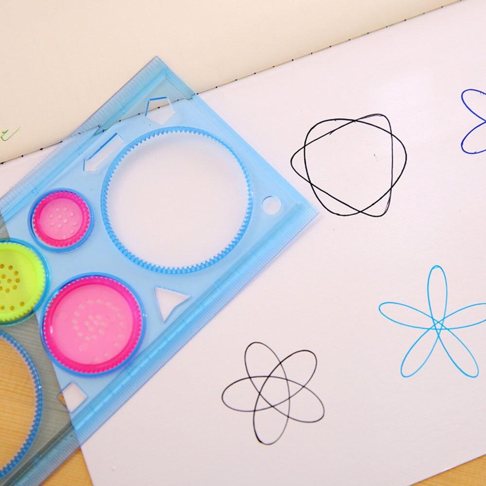 Мульти-функциональная линейка необычный, прозрачный геометрический страница с шаблоном чертежная линейка разные цвета