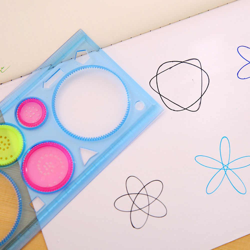 Multi - function ไม้บรรทัดโปร่งใสเรขาคณิตนักเรียนไม้บรรทัดไม้บรรทัดสีสุ่ม