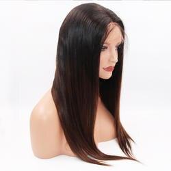 Eversilky 1b2 13x6 синтетические волосы на кружеве человеческие Искусственные парики для женщин Бразильский прямое, Омбре синтетические