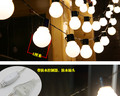 10M 50mm diameter 38pcs LED bulbs outdoor string light;milky cover;IP65 rated