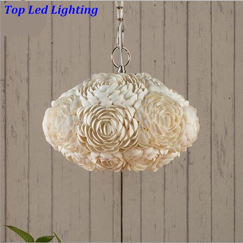 Creative Handmade Mediterranean Sea Shells Dia 30cm Led E27 Pendant Light For Living Room Restaurant AC 80-265V 1228 шины yellow sea 235 245 265 70r75r85r31x10 5r15r16 x8