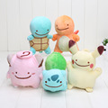 5pcs/set Pikachu Stuffed Toys digimon Variety Squirtle Bulbasaur Charmander plush toy doll PP cotton