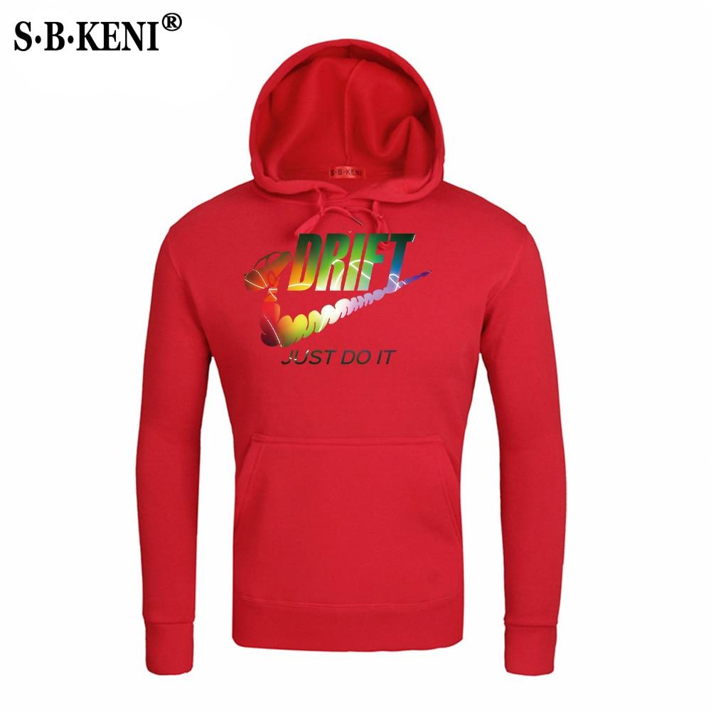 New JUST DO IT Men Hoodies Sweatshirts Cotton Groot Long Sleeve Hoodie Lightning print Mens Casual Brand Clothing Hoody 11