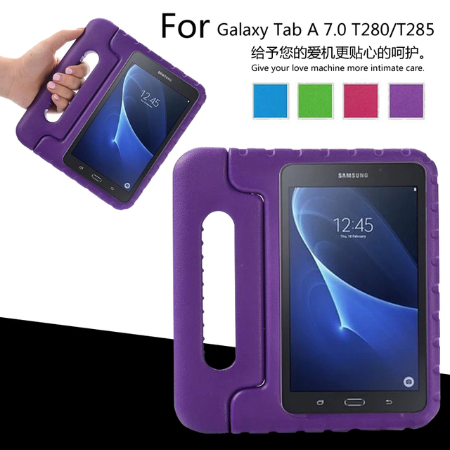 Портативный Дети выдерживает падения с высоты EVA планшетный ПК защитный чехол для Samsung galaxy Tab 7.0 T280 T285 T280N настольная подставка задняя крышка крышка