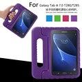 Portátil crianças gota resistência eva tablet pc protetora para samsung galaxy Tab 7.0 T280 T285 T280N secretária estande tampa da caixa de volta
