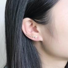 New Ladies Four Feet Crystal Stars Earrings Four Claws Inlaid 7 Stars Big Dipper Hook Earrings Metal Earrings Girls Jewelry Gift недорого