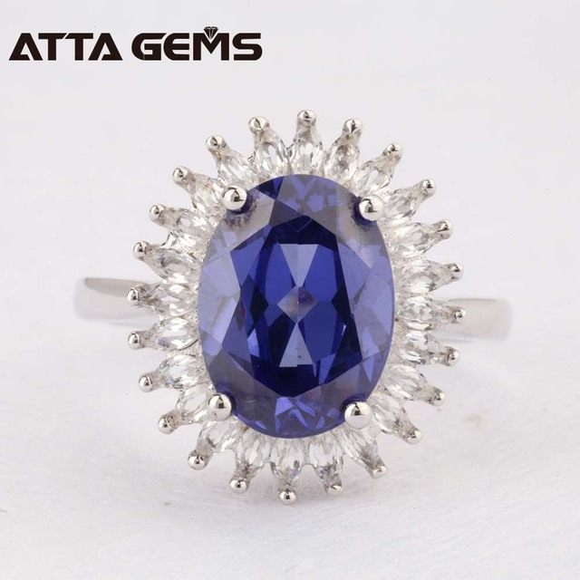 Tanzanite Silver Ring 9 carats Tanzanite For Women Party Silver Jewelry  Clean Quality Women Fine Jewelry for Wedding Birthday
