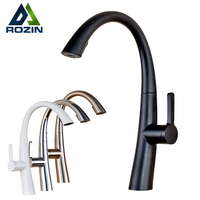 Good Quality Pull Out Spring Kitchen Faucet White Black Bathroom Vessel Sink Mixer Tap Deck Mounted