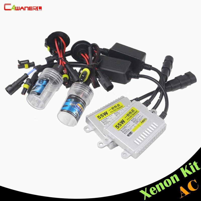 Cawanerl 55W H8 H9 H11 HID Xenon Kit AC Ballast Bulb 3000K-15000K Replacement Car Headlight Fog Light DRL Daytime Running Lamp buildreamen2 55w 9005 9006 h1 h3 h7 h8 h9 h11 880 881 hid xenon kit ac ballast bulb 10000k blue car headlight lamp fog light