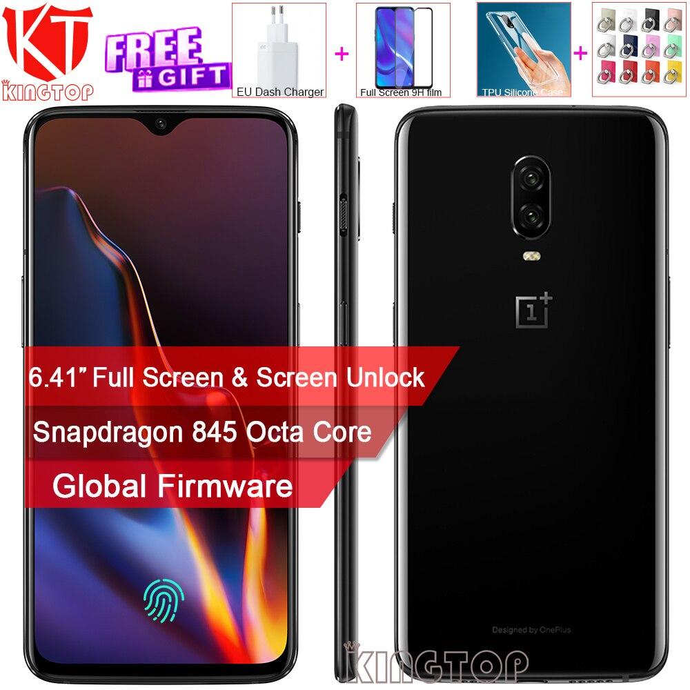 Nouvelle d'origine Oneplus 6 t Mobile Téléphone 6 gb RAM 128 gb ROM Snapdragon 845 Octa base 6.41 Double caméra 20MP + 16MP Écran Déverrouiller