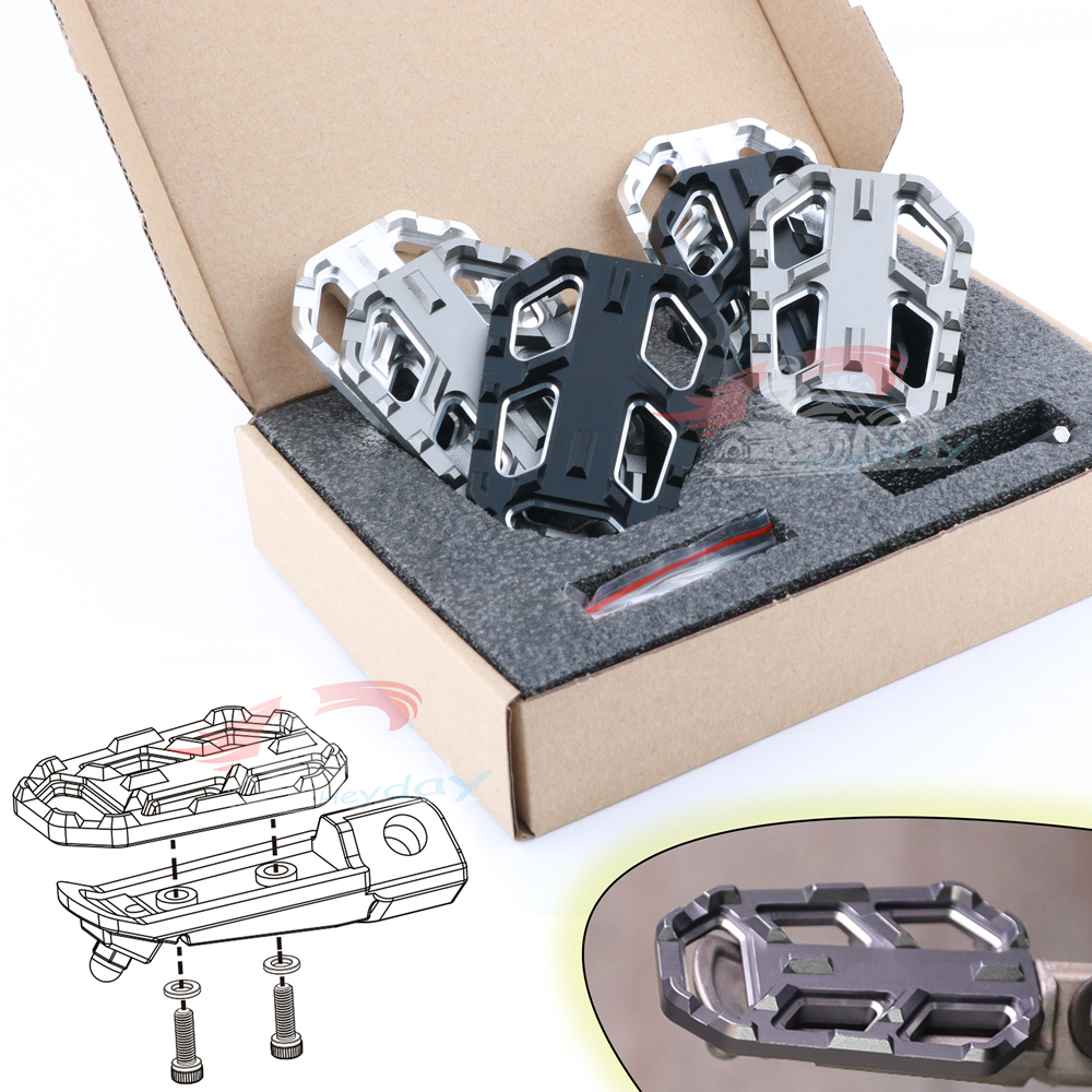 CNC Teeth Foot Pegs For KAWASAKI Z750 04-12 Z750S 99-06 Z1000 03-09 Z1000SX 2011-2018 Motorcycle Accessories Front Footpegs
