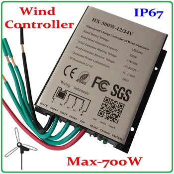 100W-600W Wind Turbine Generator Controller 12V 24V 400W 300W 200W 500W wind turbine charge controller/Wind Generator Regulator