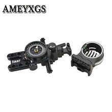 1Pc 5 Pin Sight Wrapped Compound Bow Sight Micro Adjustable Pointer Lens RH For Outdoor Hunting Shooting Archery Accessories стоимость
