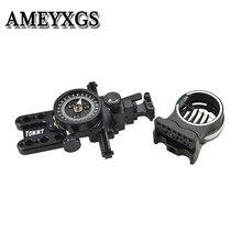 1Pc 5 핀 시력 감싸 인 화합물 보우 시력 마이크로 조정 가능한 포인터 렌즈 RH 야외 사냥 슈팅 양궁 액세서리
