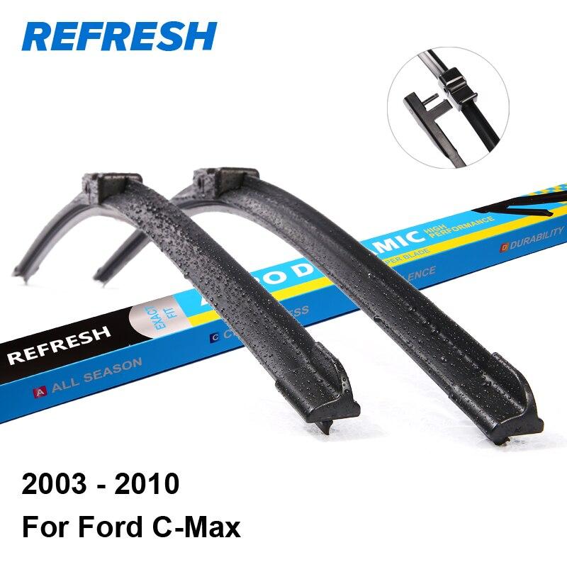 """Prix pour Rafraîchir Lames D'essuie-Glace pour Ford C-Max 26 """"& 19"""" Fit Side Pin Bras 2003 2004 2005 2006 2007 2008 2009 2010"""