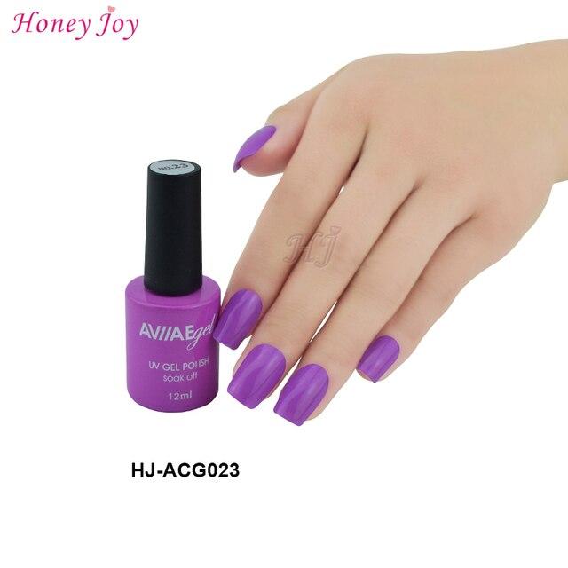 AVIIAE Violeta Púrpura Color de Esmalte de Uñas de Gel de Larga ...