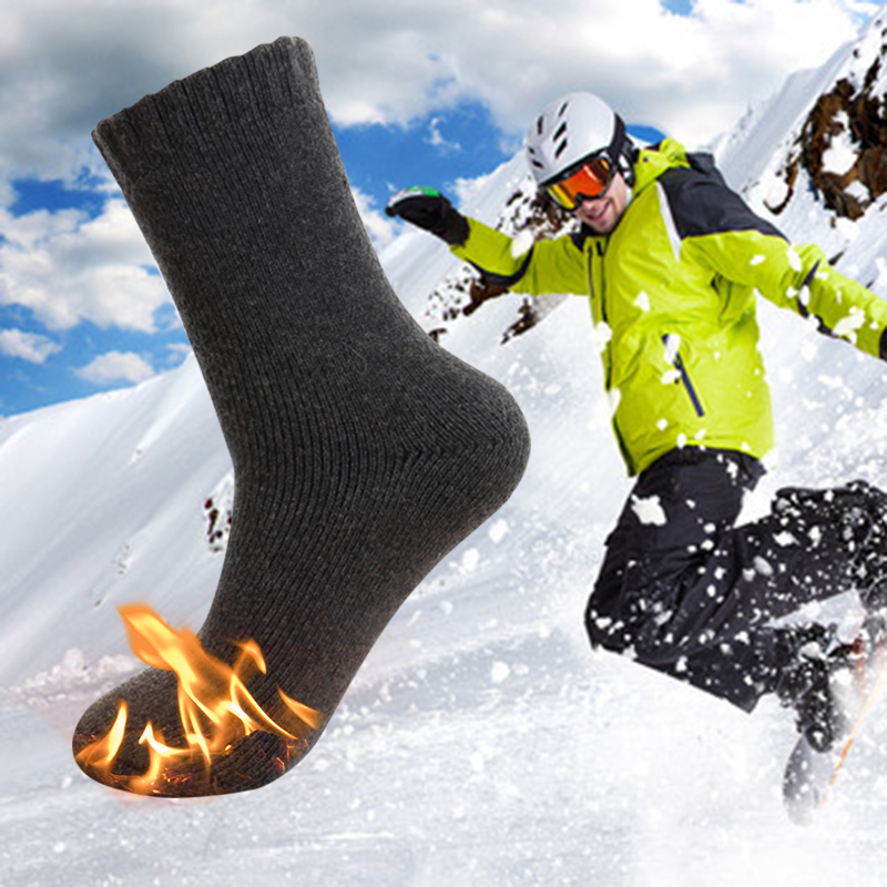 Cotton Skiing Socks For Men Women Winter Warming Cotton Heated Socks Cycling Hiking Snowboard Outdoor Sport Sock Anti Skid 30
