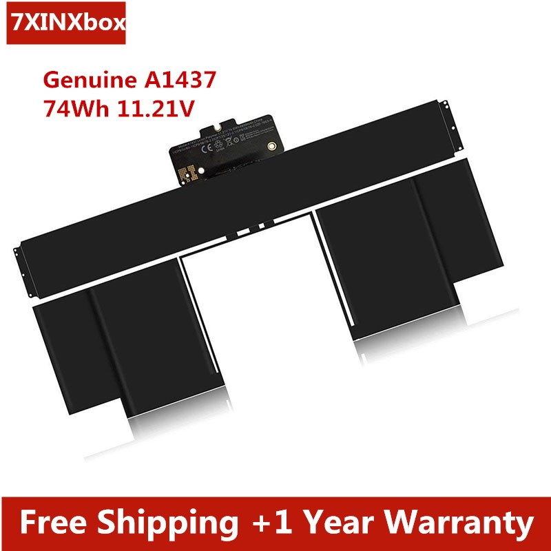 7XINbox 74Wh 11.21V A1437 Battery For Apple MacBook Pro 13