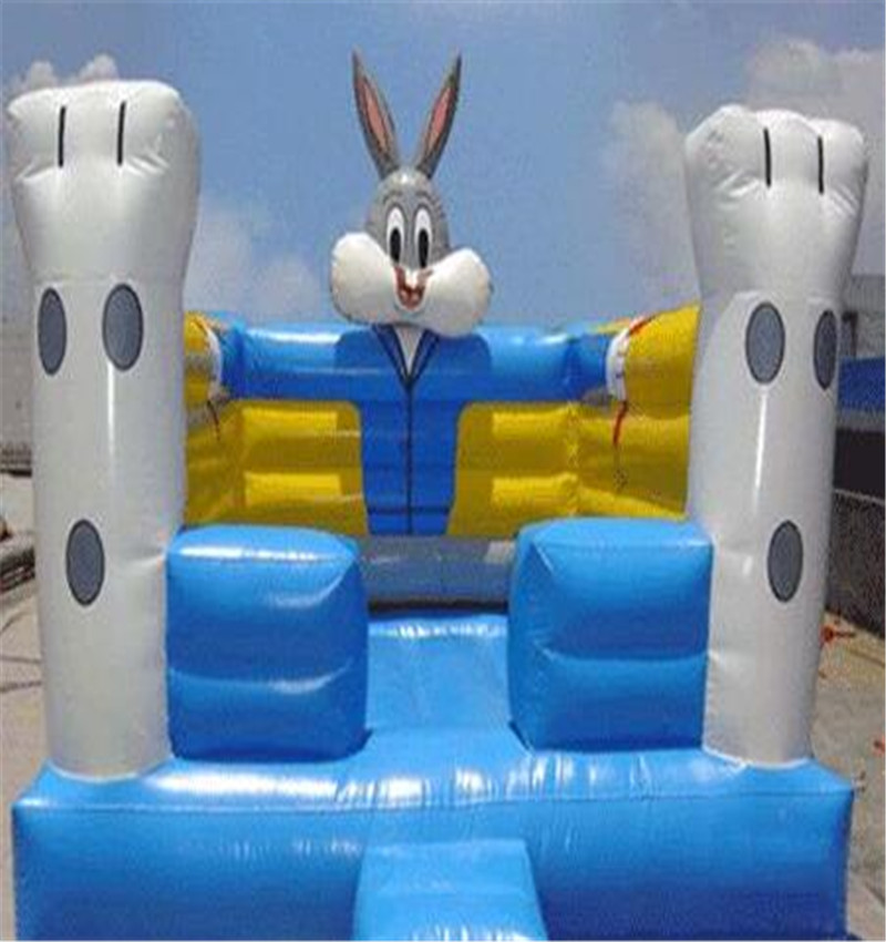 Rabbit inflatable bounce hounse castle jumper for free blower