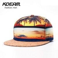 KDEAM 2017 Nouveau Chapeau D'été Cool De Noix De Coco arbre desgin 3D mode hommes Casquette de baseball de femmes Plage chapeau casquettes gros