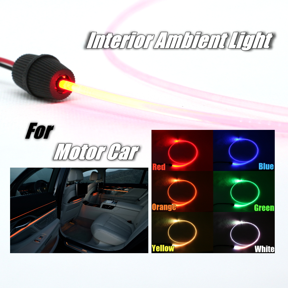 Car Interior Ambient Light 1 Meter long Universal Fit Decoration Strip For Car Vehicle Door Roof Dashboard Optical Fiber Light