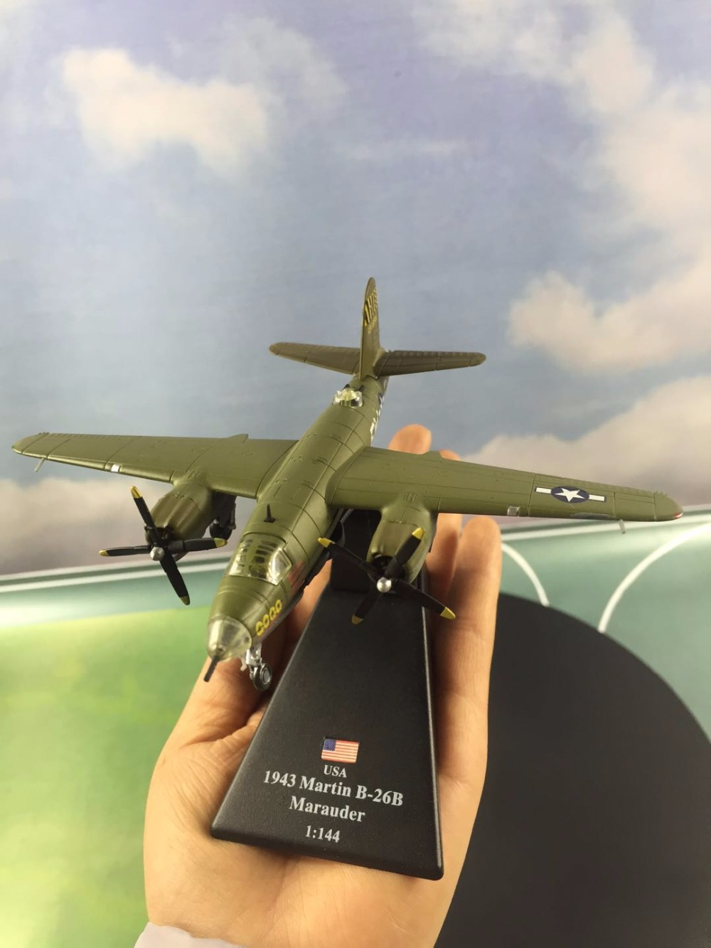 Alloy Simulation B-26B Marauder Bomber,collection model alloy Airplane Toy Vehicles , Diecasts Airplanes toys, free shipping image