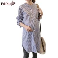 Fdfklak Women Dresses Maternity 2018 New Dress For Pregnancy Women Pregnancy Fashion Spring Summer Striped Maternity Dress F91
