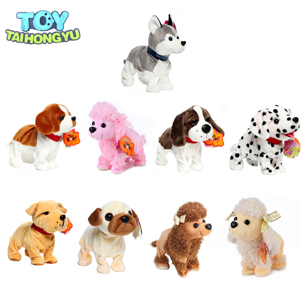 TAIHONGYU Electronic Pets Intelligent Voice Sound Control Robot Dogs Bark Stand Walk Cute Interactive Husky Poodle Kids Toys