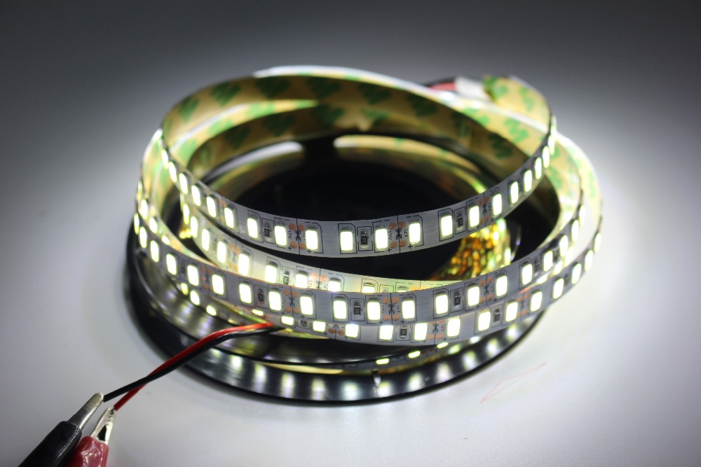 Image 4 - Super bright 5m 5730 LED strip 120 led/m IP20  Not waterproof, 12V flexible 600 LED tape,5630 LED ribbon, white/warm white color-in LED Strips from Lights & Lighting