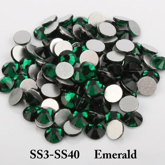 Ss3 Ss40 Nail Art Rhinestones Non Hotfix Stones Round Loose