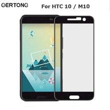 """GerTong полное покрытие закаленное стекло для htc One 10 M10/10 стиль жизни M защитная пленка 5,"""" защитный чехол стекло"""