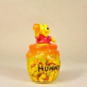 "Image 2 - דיסני פו הדוב אחסון צנצנת 16 ס""מ פעולה איור אנימה קישוט אוסף צלמית מיני בובת צעצוע דגם לילדים מתנה"