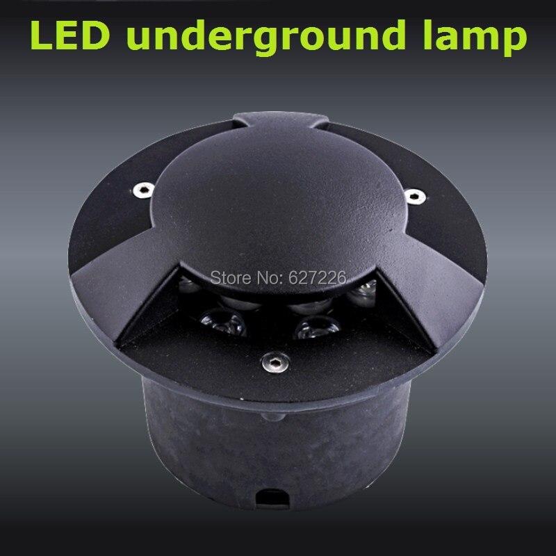Πολωμένο φως 3W LED Υπόγεια Ligjht 12V 24V IP65 Αδιάβροχο CE ROHS Εξωτερική Τοπίο Φωτισμός μονόχρωμα 4PCs / Lot