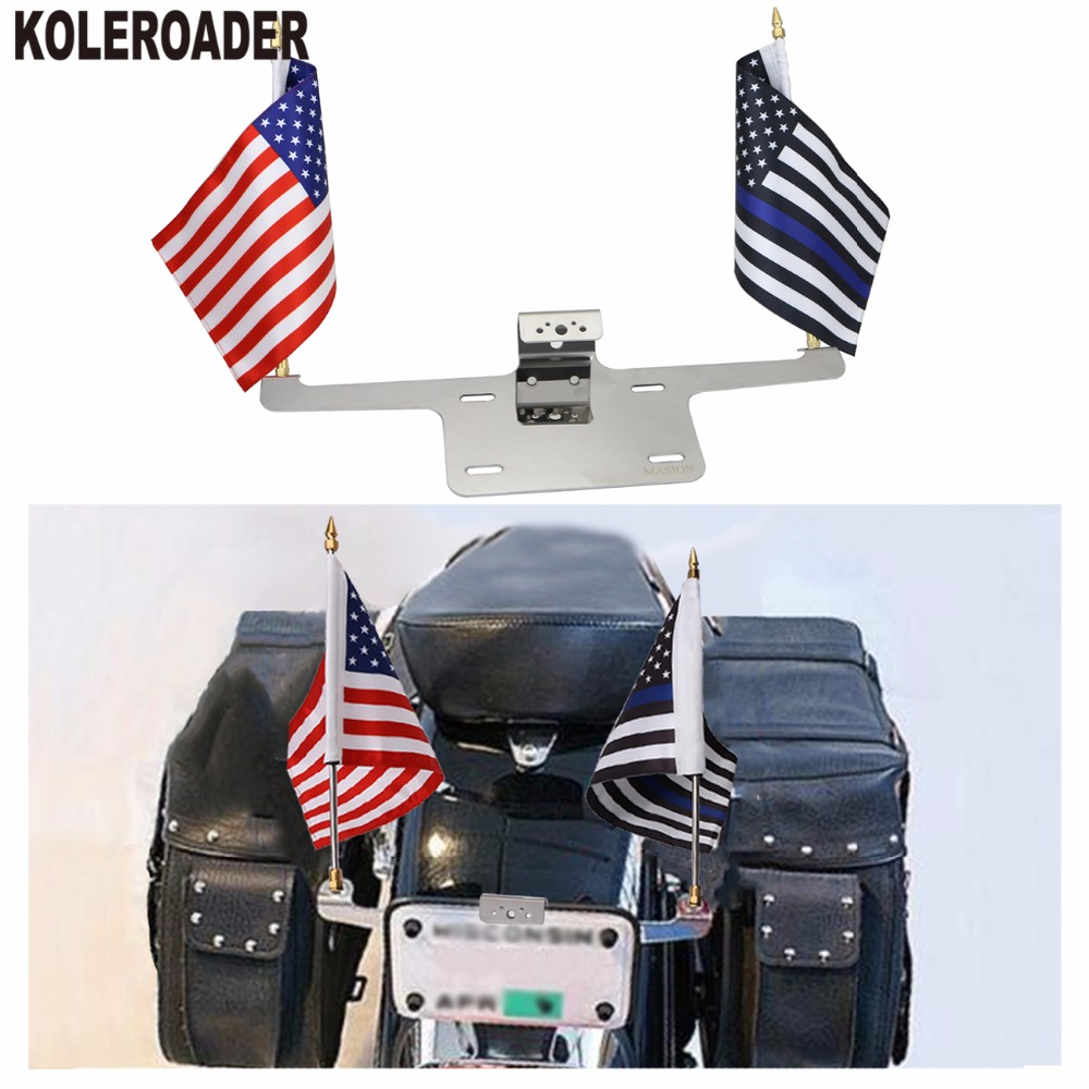 Universal Motorcycle License Plate Frame Mounted 6 * 9 Thin Blue ...