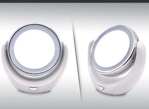Image 3 - Make up Spiegel 5X Vergrößerungs Doppel seite mit 10 LED Glühbirnen für Kosmetische und Hautpflege, Chrom Poliert