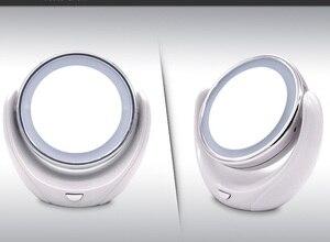 Image 3 - Miroir de maquillage grossissant 5X Double face avec 10 LED ampoules lumineuses, pour les soins cosmétiques et de la peau, Chrome poli
