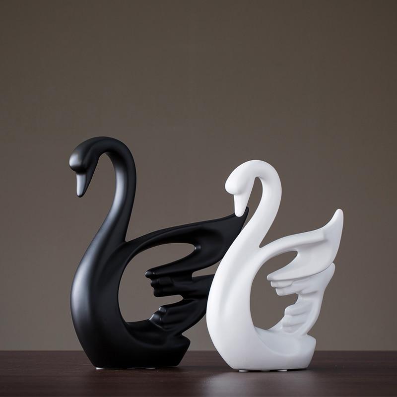 Креативная Керамическая маленькая декоративная фигурка животного олень украшение домашнего декора керамическое ремесло творчества - 3