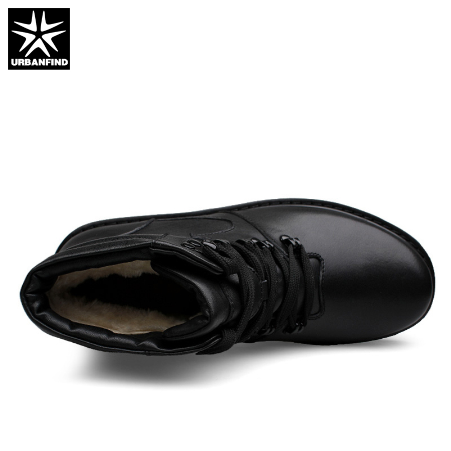 48 Caliente 39 Hombre Genuino Botas Zapatos Black Forro Tamaño Piel Calidad Urbanfind Invierno Alta Cuero Hombres Motocicleta Gran De Con fqAvx5z