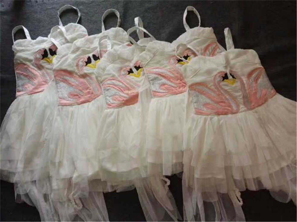 d048ac493a ... Christmas Girls Swan Flamingo Wings Dress Children White Princess Dress  for Wedding Kids Embroidered Tulle Ballet