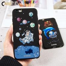 CASEIER For iPhone 6 6S 7 Plus Case 3D Embossed Patterned Soft Silicon Cover For iPhone 7 6 6S Plus iPhone 5S SE 5 Conque Shell стоимость