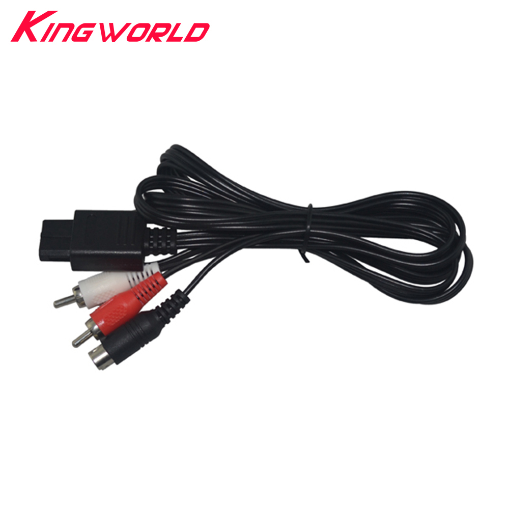 High Quality S-Video Cable RCA AV Cord  For N64 For SNES For GameCube GC