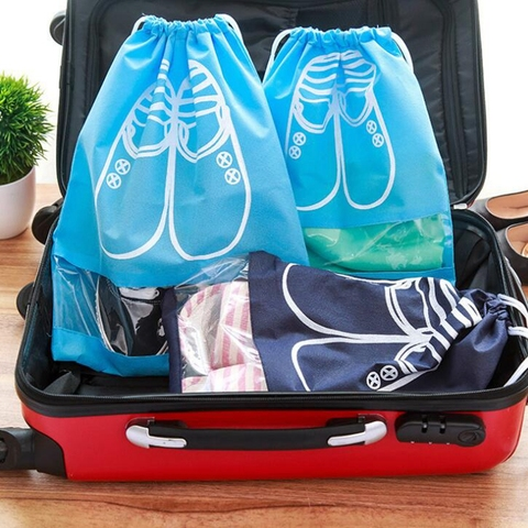 Travel Accessories Shoes Bags For Girls Women Dustproof Cover Shoes Bags Non-Woven Fabric Travel Beam Port Shoes Storage Bags Karachi