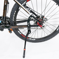 Bike Bicycle 24' 29'' Adjustable Side Stick Stand Bike Accessories Cycling Side Replacement Kickstand Kick Stand Black