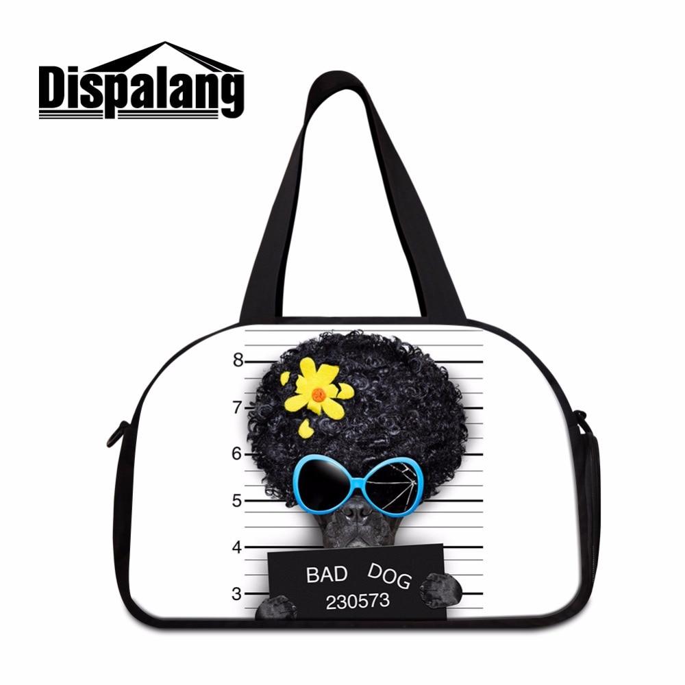 Dispalang Dog Printed Travel Duffle Bag for Girls Big travel tote bags womens travel handbags animal printed tourist bag boys