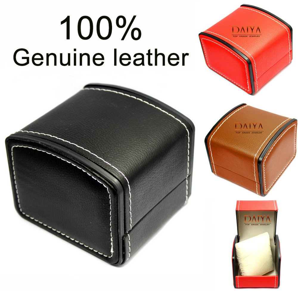 Luxury Watch Box Gift Boxes Genuine Leather Watch Box with Pillow ...