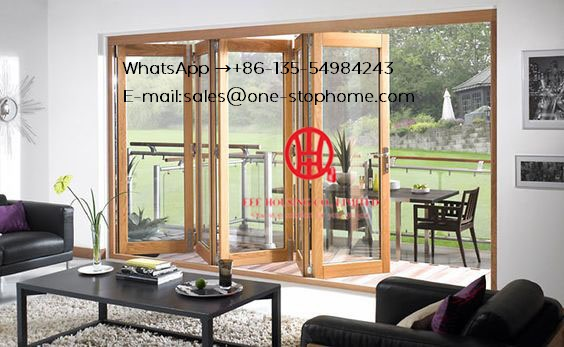 Large Opening Residential Balcony Aluminum Concertina Folding Patio Doors,Aluminum Bi Folding Door Outside Fold Glass Door