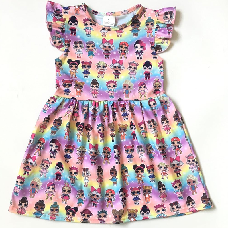 06b693a374bf4 2019 Europe and the United States popular summer new girl baby clothes  round neck short-