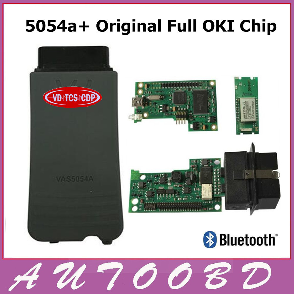 DHL Freeship VAS5054a with Original Full Oki Chip For Audi/VW/SEAT/SKODA Diagnostic Scanner VAS 5054A Bluetooth With ODIS V3.0.3 2013 r3 with keygen vd tcs cdp pro plus bluetooth auto diagnostic tools full all 8 car cables dhl free shipping