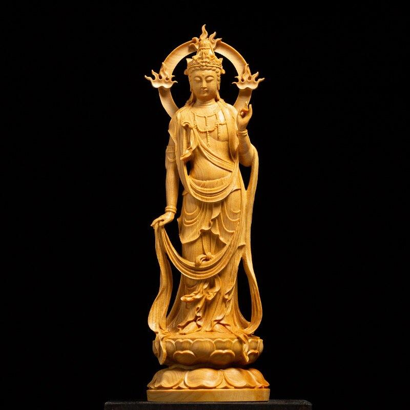 CCZHIDAO La tendance générale à la Bouddha sculpture sur bois en bois massif feng shui maison dédié à la Bouddha sculpture artisanat bouddha