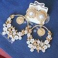 Flores Nuevo 2014 joyería de moda pendientes EH231 aretes brincos boucles d'oreilles bijouterie joyas pendientes de gota para las mujeres